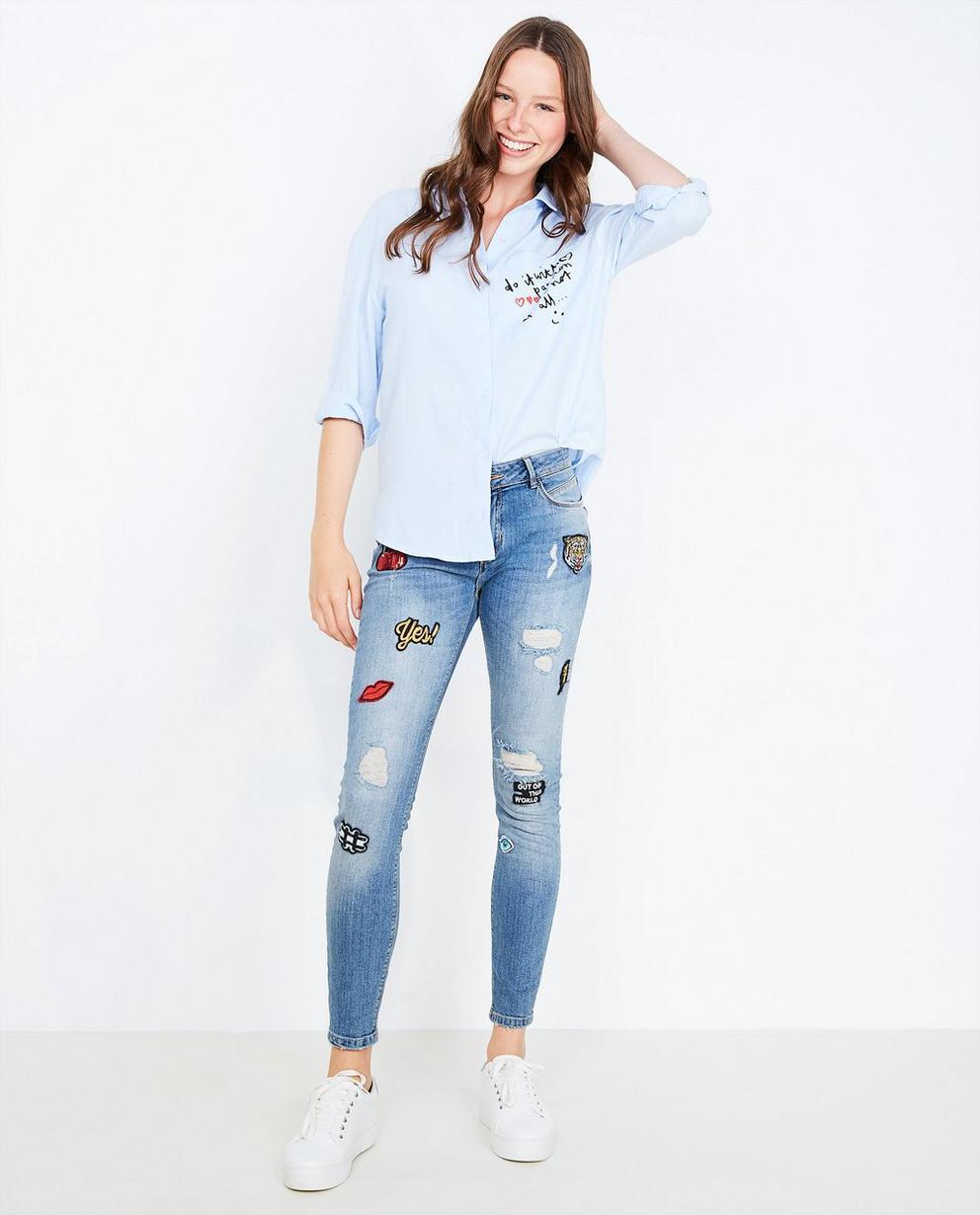 Jeans à écussons - destroyed - Groggy